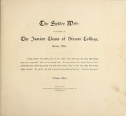 Page 7, 1893 Edition, Hiram College - Spider Web Yearbook (Hiram, OH) online yearbook collection