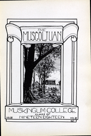 Page 3, 1918 Edition, Muskingum University - Muscoljuan Yearbook (New Concord, OH) online yearbook collection
