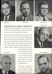 Page 15, 1954 Edition, Wilmington College - Wilmingtonian Yearbook (Wilmington, OH) online yearbook collection