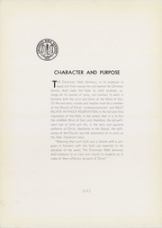 Page 14, 1940 Edition, Cincinnati Bible Seminary - Nautilus Yearbook (Cincinnati, OH) online yearbook collection