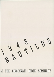 Page 9, 1943 Edition, Cincinnati Bible Seminary - Nautilus Yearbook (Cincinnati, OH) online yearbook collection