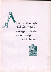 Page 7, 1936 Edition, Baldwin Wallace University - Grindstone Yearbook (Berea, OH) online yearbook collection