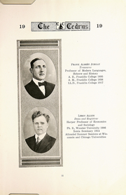 Page 13, 1919 Edition, Cedarville University - Cedrus Yearbook (Cedarville, OH) online yearbook collection