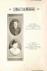 Page 14, 1919 Edition, Cedarville University - Cedrus Yearbook (Cedarville, OH) online yearbook collection