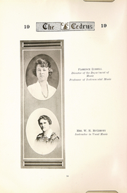 Page 16, 1919 Edition, Cedarville University - Cedrus Yearbook (Cedarville, OH) online yearbook collection