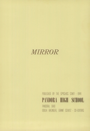 Page 5, 1944 Edition, Pandora Gilboa High School - Mirror Yearbook (Pandora, OH) online yearbook collection