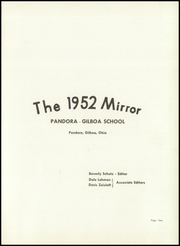 Page 5, 1952 Edition, Pandora Gilboa High School - Mirror Yearbook (Pandora, OH) online yearbook collection