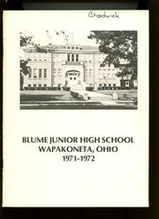 1972 Edition, Blume Junior High School - Yearbook (Wapakoneta, OH)