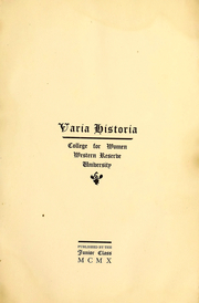 1911 Edition, Flora Stone Mather College - Polychronicon Yearbook (Cleveland, OH)
