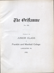 Page 4, 1902 Edition, Franklin and Marshall College - Oriflamme Yearbook (Lancaster, PA) online yearbook collection