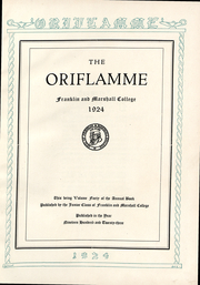Page 2, 1924 Edition, Franklin and Marshall College - Oriflamme Yearbook (Lancaster, PA) online yearbook collection