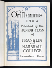 Page 7, 1932 Edition, Franklin and Marshall College - Oriflamme Yearbook (Lancaster, PA) online yearbook collection