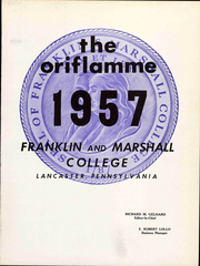 Page 7, 1957 Edition, Franklin and Marshall College - Oriflamme Yearbook (Lancaster, PA) online yearbook collection