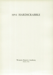 Page 7, 1954 Edition, Western Reserve Academy - Hardscrabble Yearbook (Hudson, OH) online yearbook collection