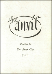Page 3, 1953 Edition, Walnut Creek High School - Anvil Yearbook (Walnut Creek, OH) online yearbook collection