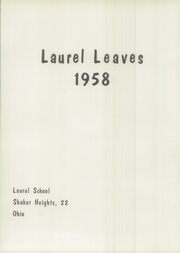 Page 7, 1958 Edition, Laurel School - Leaves Yearbook (Shaker Heights, OH) online yearbook collection