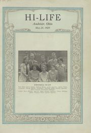 1928 Edition, Andover High School - Hi Life Yearbook (Andover, OH)