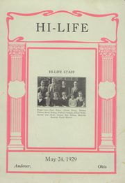 1929 Edition, Andover High School - Hi Life Yearbook (Andover, OH)