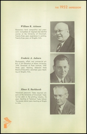 Page 10, 1952 Edition, High School of Graphic Arts and Printing - Impression Yearbook (Cincinnati, OH) online yearbook collection