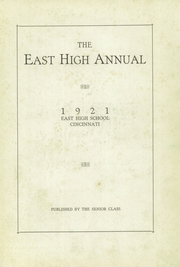 Page 7, 1921 Edition, East High School - Tiger Yearbook (Cincinnati, OH) online yearbook collection
