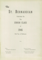 Page 3, 1946 Edition, St Bernard High School - St Bernardian Yearbook (St Bernard, OH) online yearbook collection