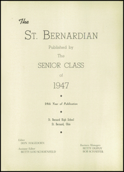 Page 5, 1947 Edition, St Bernard High School - St Bernardian Yearbook (St Bernard, OH) online yearbook collection
