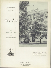 Page 5, 1954 Edition, St Ursula Academy - Crest Yearbook (Cincinnati, OH) online yearbook collection