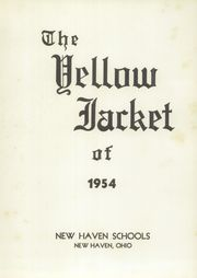 Page 7, 1954 Edition, New Haven High School - Yellow Jacket Yearbook (New Haven, OH) online yearbook collection