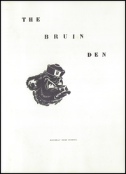Page 5, 1957 Edition, Beverly High School - Bruin Den Yearbook (Beverly, OH) online yearbook collection