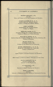 Page 20, 1884 Edition, University of California Berkeley - Blue and Gold Yearbook (Berkeley, CA) online yearbook collection