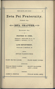 Page 77, 1884 Edition, University of California Berkeley - Blue and Gold Yearbook (Berkeley, CA) online yearbook collection
