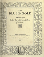 Page 9, 1928 Edition, University of California Berkeley - Blue and Gold Yearbook (Berkeley, CA) online yearbook collection