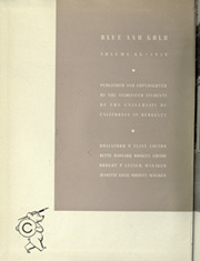Page 6, 1939 Edition, University of California Berkeley - Blue and Gold Yearbook (Berkeley, CA) online yearbook collection