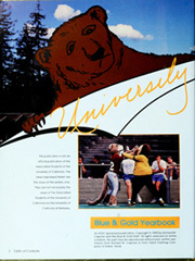 Page 6, 1990 Edition, University of California Berkeley - Blue and Gold Yearbook (Berkeley, CA) online yearbook collection