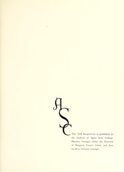 Page 5, 1948 Edition, Agnes Scott College - Silhouette Yearbook (Decatur, GA) online yearbook collection