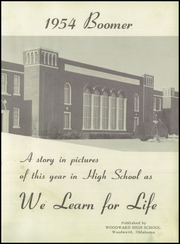 Page 7, 1954 Edition, Woodward High School - Boomer Yearbook (Woodward, OK) online yearbook collection