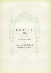 Page 9, 1928 Edition, Classen High School - Orbit Yearbook (Oklahoma City, OK) online yearbook collection