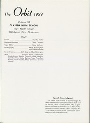 Page 5, 1959 Edition, Classen High School - Orbit Yearbook (Oklahoma City, OK) online yearbook collection