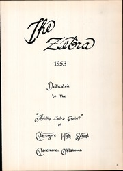 Page 5, 1953 Edition, Claremore High School - Zebra Yearbook (Claremore, OK) online yearbook collection