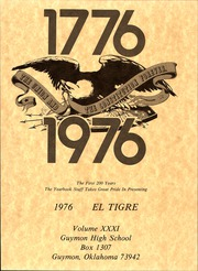 Page 5, 1976 Edition, Guymon High School - El Tigre Yearbook (Guymon, OK) online yearbook collection