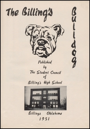Page 7, 1951 Edition, Billings High School - Bulldog Yearbook (Billings, OK) online yearbook collection