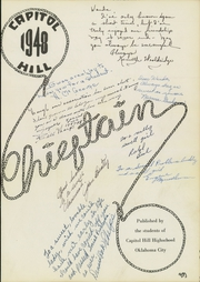 Page 5, 1948 Edition, Capitol Hill High School - Chieftain Yearbook (Oklahoma City, OK) online yearbook collection