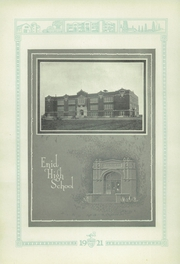Page 16, 1921 Edition, Enid High School - Quill Yearbook (Enid, OK) online yearbook collection
