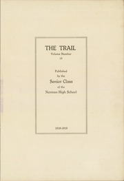 Page 5, 1919 Edition, Norman High School - Trail Yearbook (Norman, OK) online yearbook collection