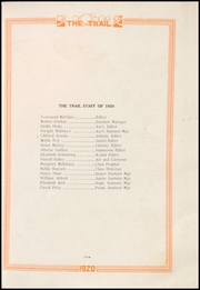 Page 13, 1920 Edition, Norman High School - Trail Yearbook (Norman, OK) online yearbook collection