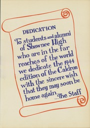 Page 9, 1944 Edition, Shawnee High School - Caldron Yearbook (Shawnee, OK) online yearbook collection
