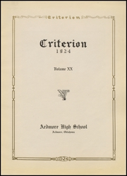 Page 7, 1924 Edition, Ardmore High School - Spectrum Yearbook (Ardmore, OK) online yearbook collection