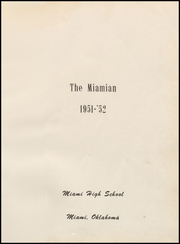 Page 5, 1952 Edition, Miami High School - Miamian Yearbook (Miami, OK) online yearbook collection