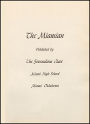 Page 5, 1958 Edition, Miami High School - Miamian Yearbook (Miami, OK) online yearbook collection