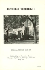 Page 5, 1948 Edition, Okmulgee High School - Torchlight Yearbook (Okmulgee, OK) online yearbook collection
